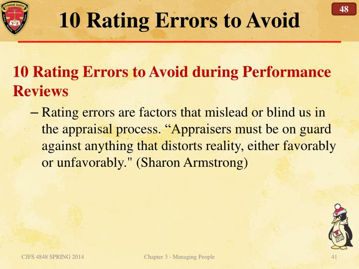 10 Rating Errors to Avoid