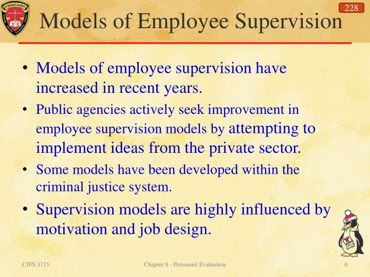 Models of Employee Supervision