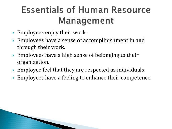 Essentials of Human Resource