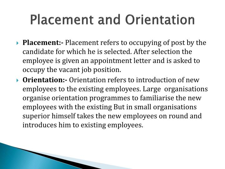 Placement and Orientation