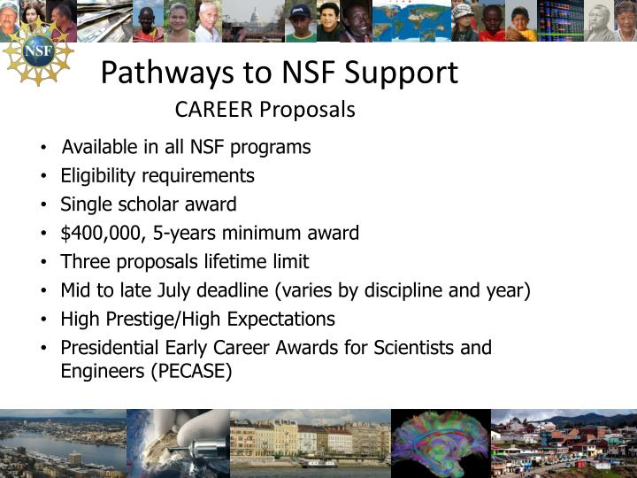 Pathways to NSF Support