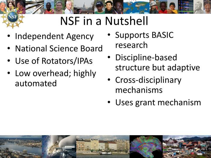 NSF in a Nutshell