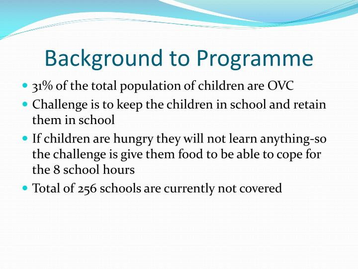 Background to Programme