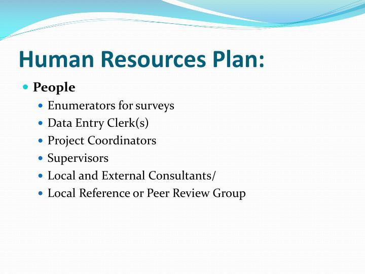 Human Resources Plan: