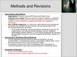 methods and revisions