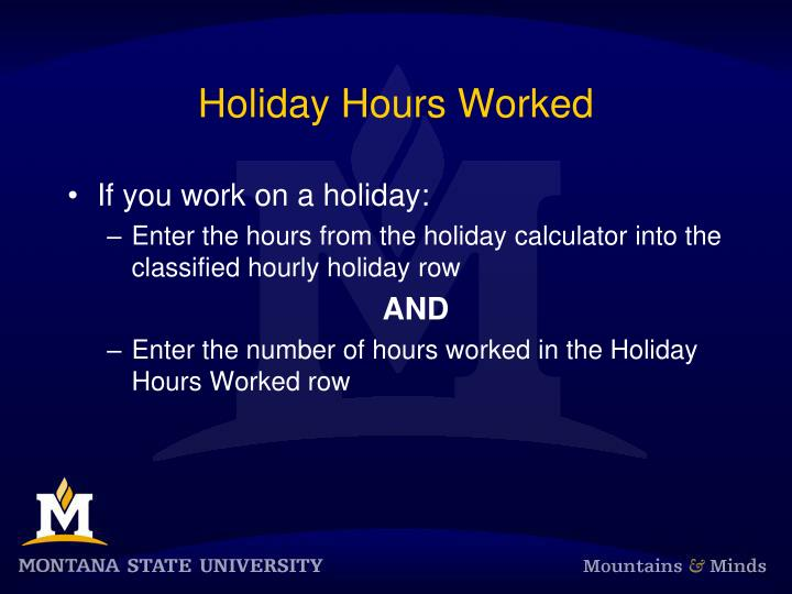 Holiday Hours Worked