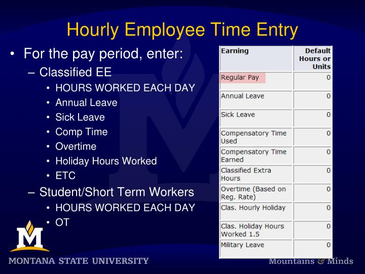 Hourly Employee Time Entry
