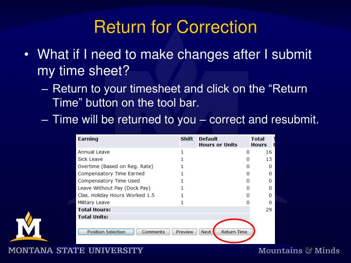 Return for Correction