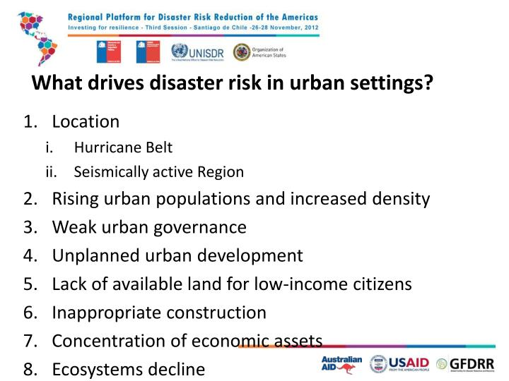 What drives disaster risk in urban
