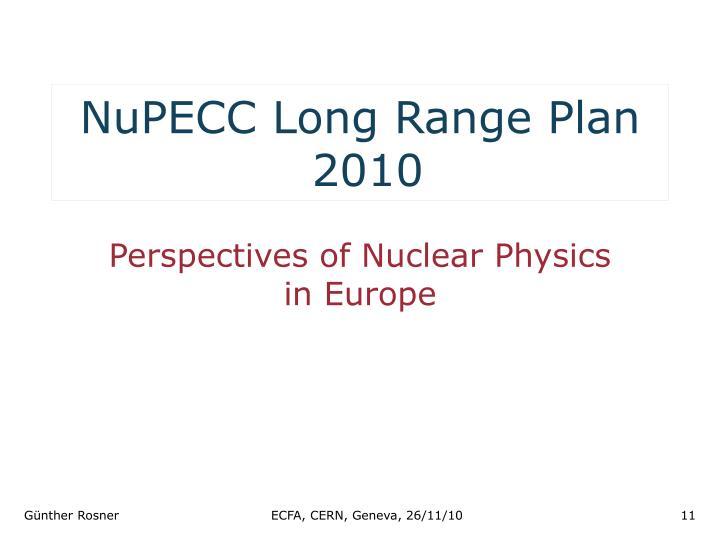NuPECC Long Range Plan