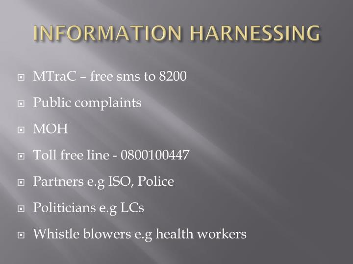 INFORMATION HARNESSING