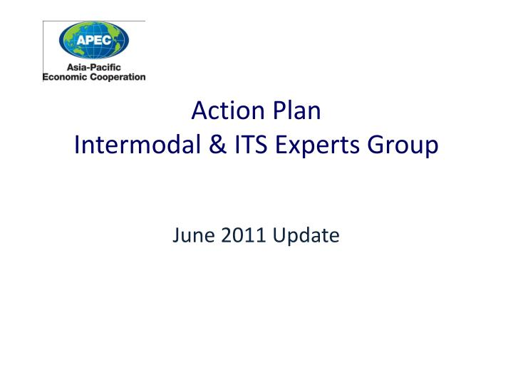 action plan intermodal its experts group
