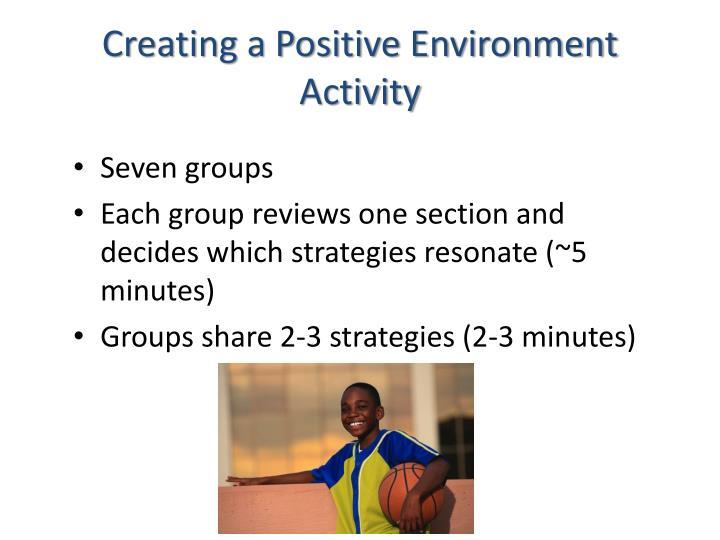 Creating a Positive Environment
