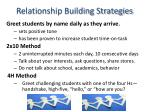 relationship building strategies