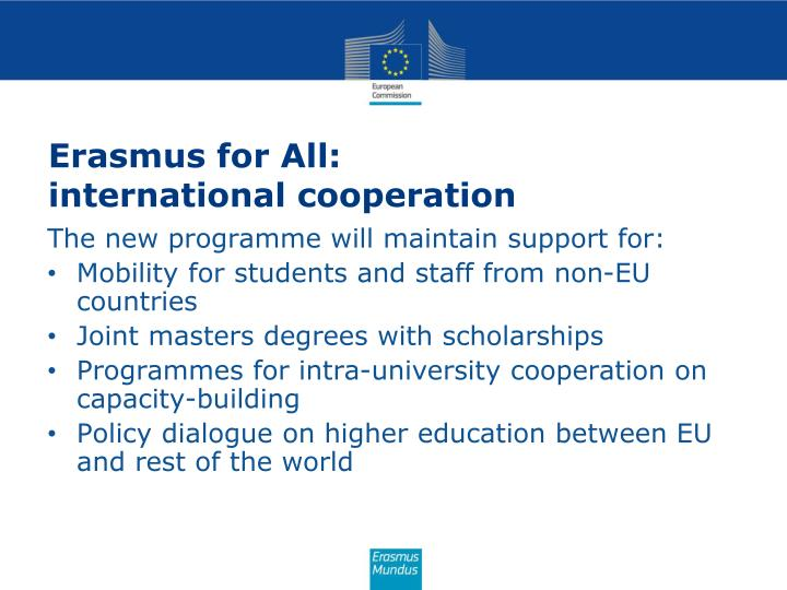 Erasmus for All: