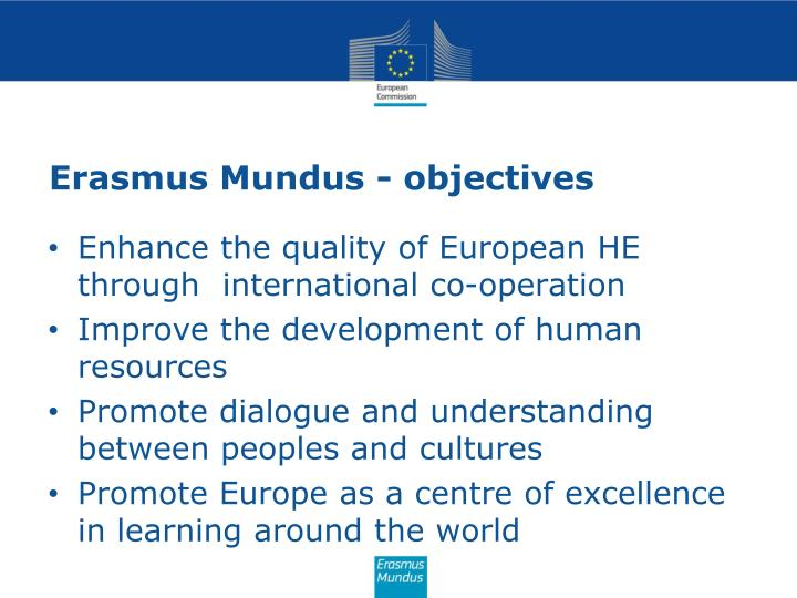 Erasmus mundus objectives