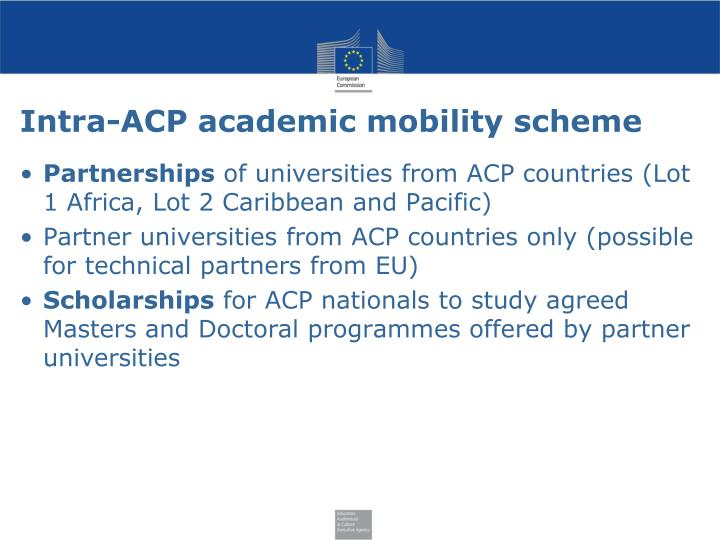Intra-ACP academic mobility scheme