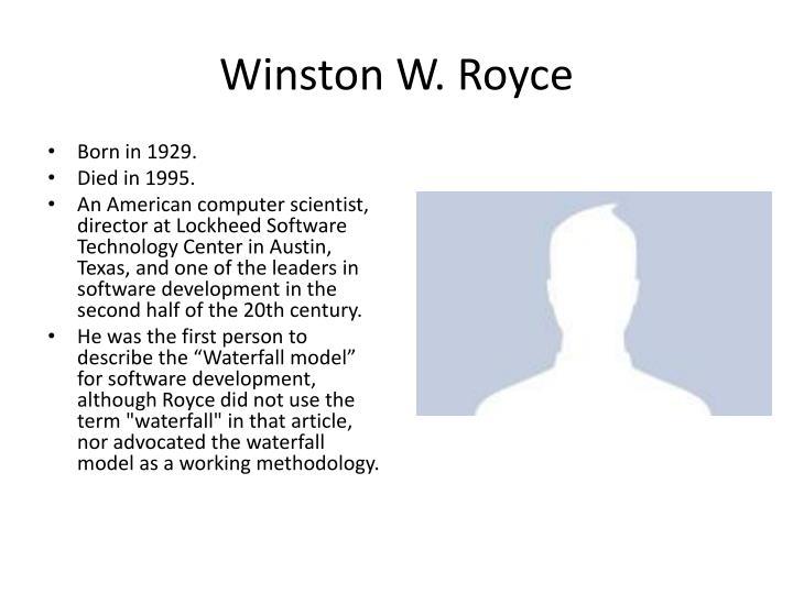 Winston W. Royce
