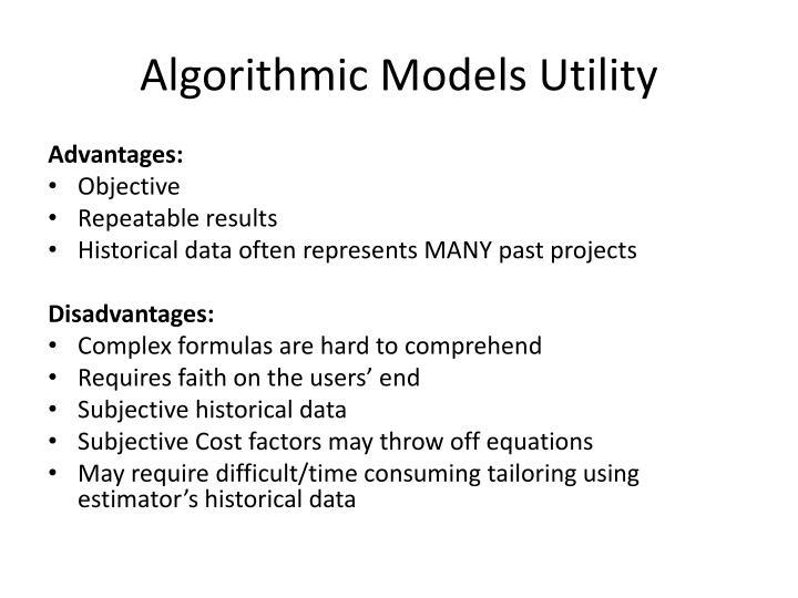 Algorithmic Models Utility