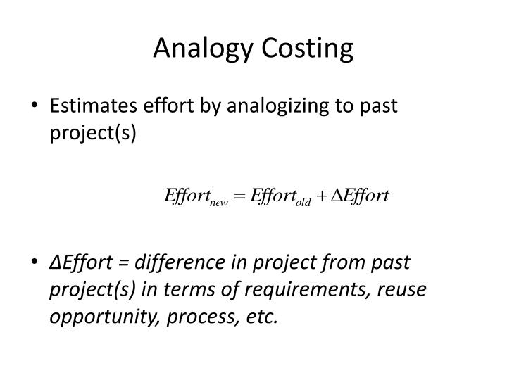 Analogy Costing