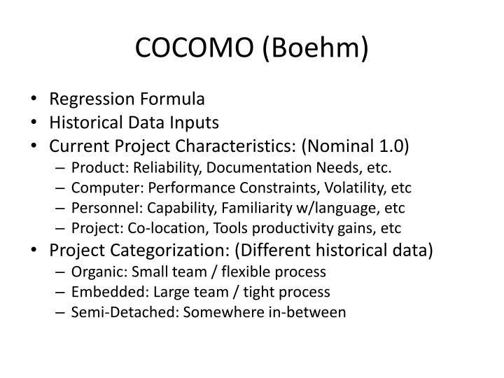 COCOMO (Boehm)