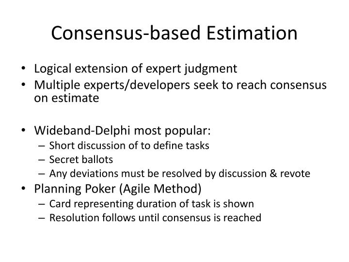 Consensus-based Estimation