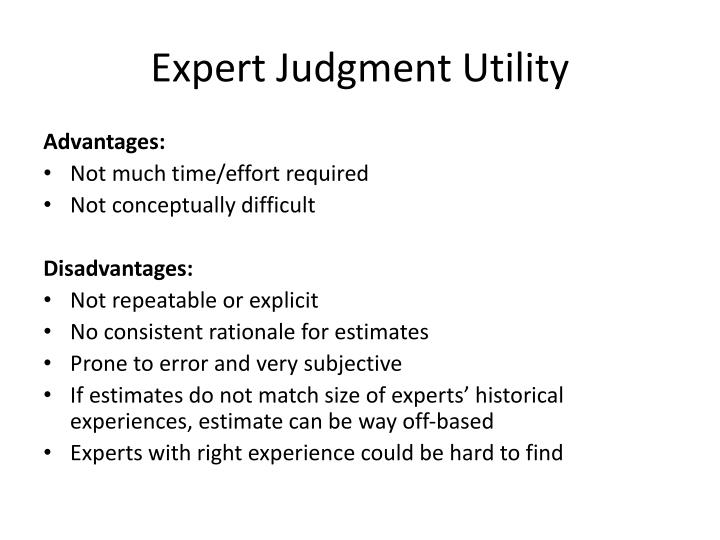 Expert Judgment Utility
