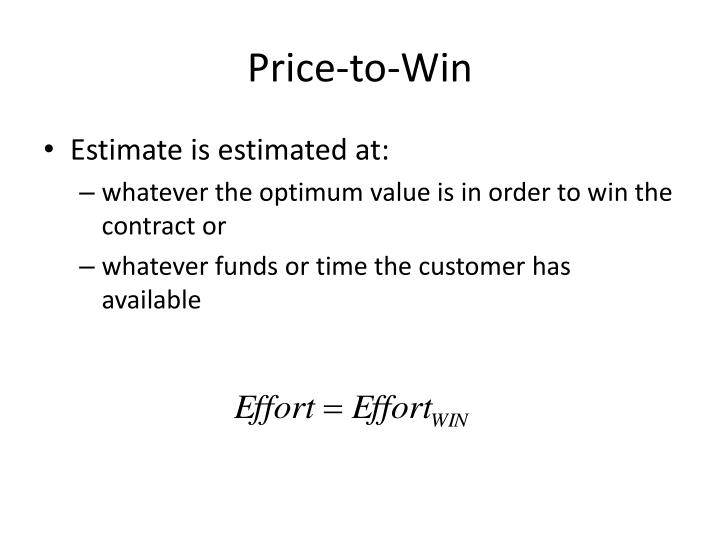 Price-to-Win