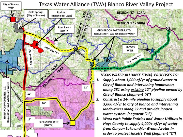 Texas Water Alliance (TWA) Blanco River Valley Project