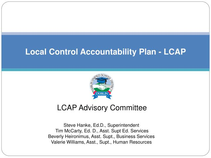 Local control accountability plan lcap