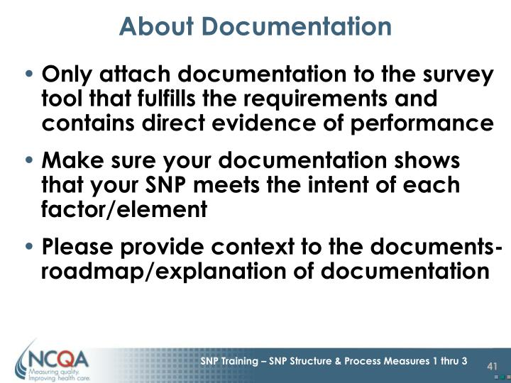 About Documentation