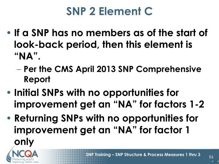 SNP 2 Element C