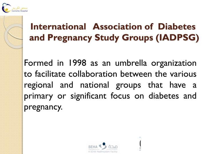 International association of diabetes and pregnancy study ...