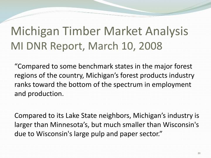 Michigan Timber Market Analysis