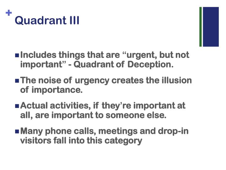 Quadrant III