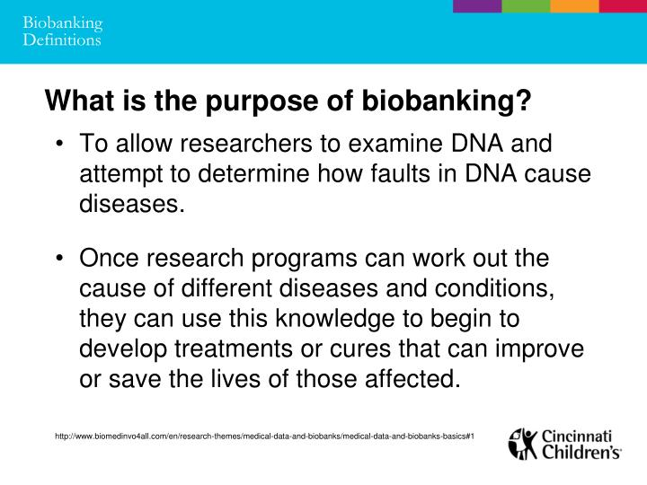 Biobanking Definitions