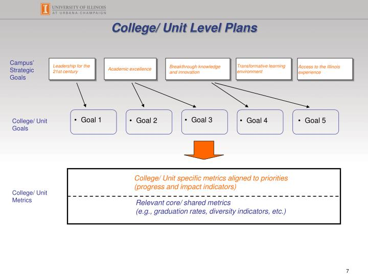 College/ Unit Level Plans