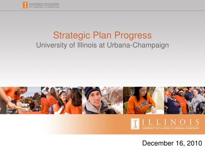 Strategic plan progress university of illinois at urbana champaign