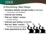 e permitting next steps