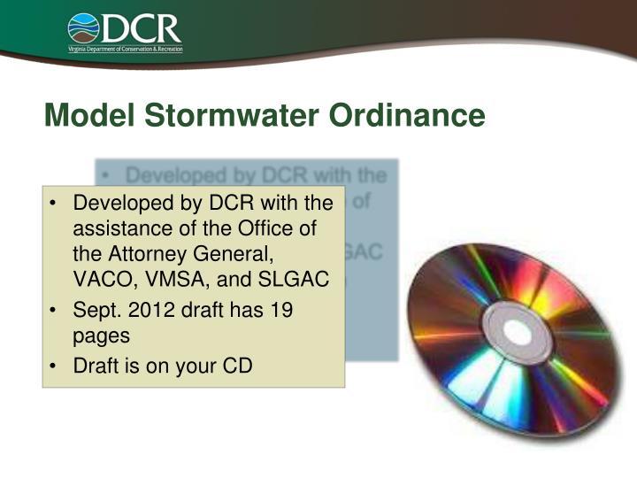 Model Stormwater Ordinance