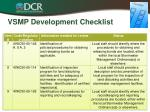 vsmp development checklist2