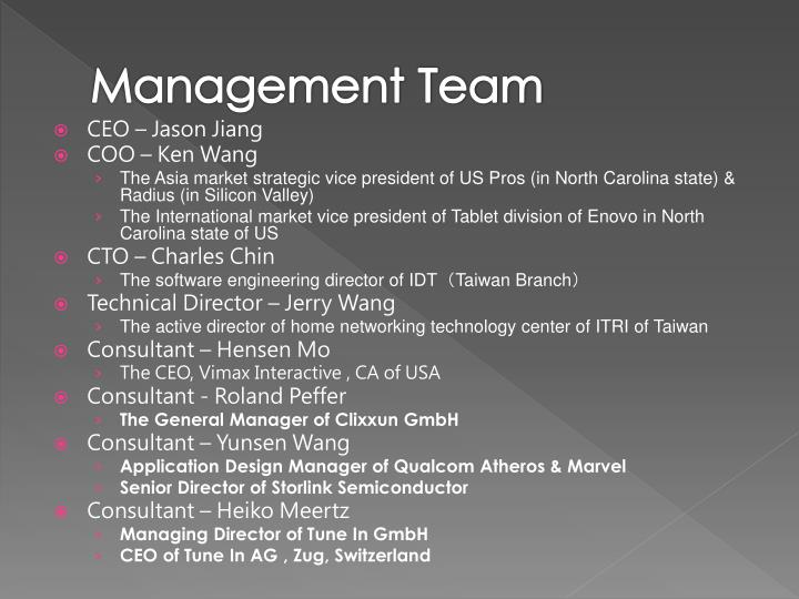 Management Team