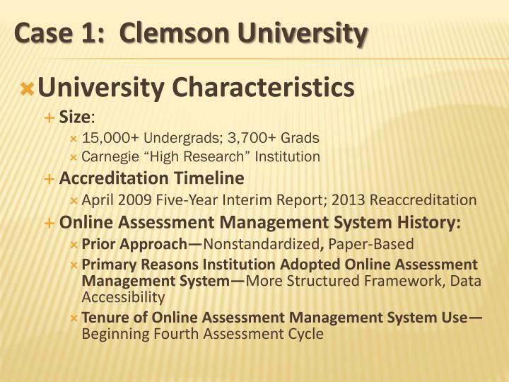 University Characteristics