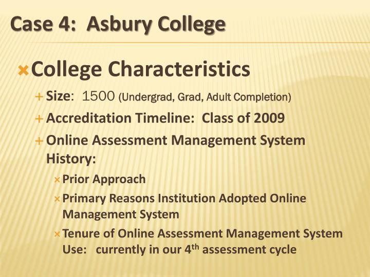 College Characteristics