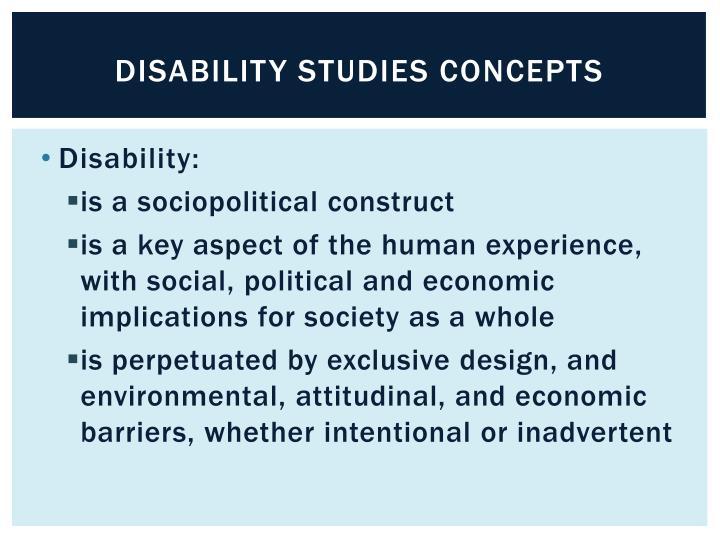 Disability Studies concepts