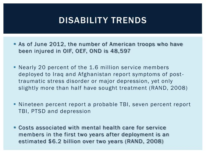 Disability trends