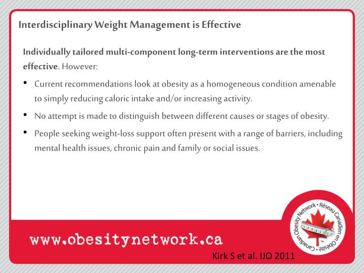 Interdisciplinary Weight Management is Effective