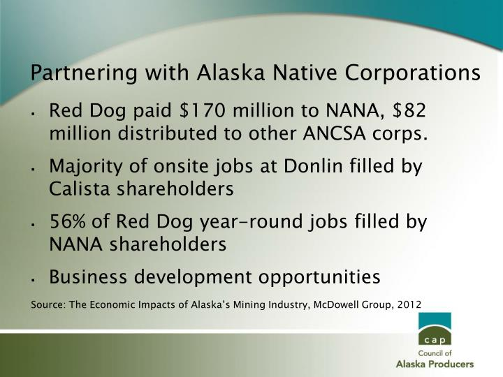 Partnering with Alaska Native Corporations