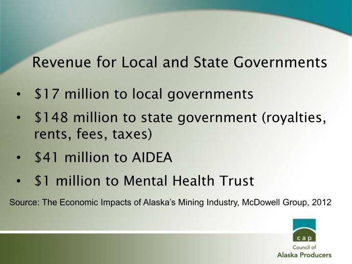 Revenue for Local and State Governments