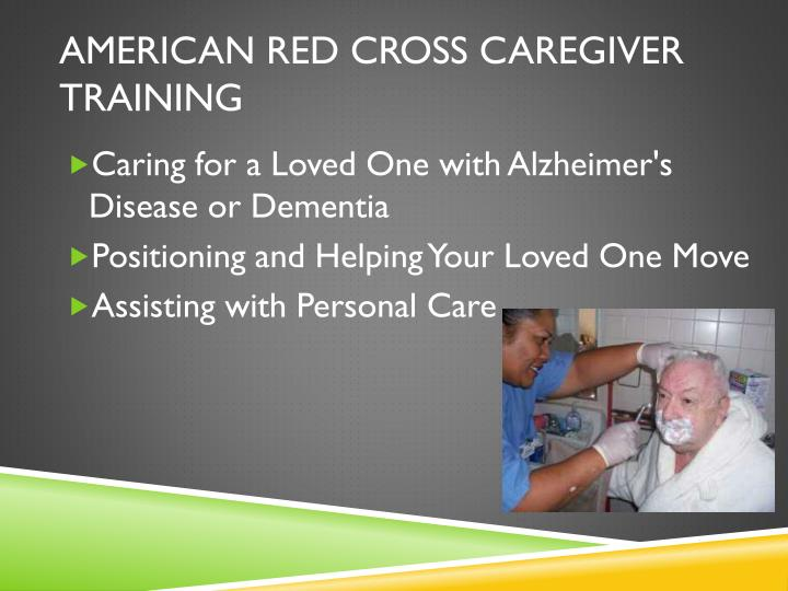 AMERICAN RED CROSS CAREGIVER TRAINING